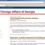 Externele Georgiei s-au mutat pe blogspot