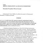 Cererea lui Catalin Voicu de a fi audiat in plenul Senatului, deja aprobata de Mircea Geoana. DOCUMENT via Ovidiu Ohanesian. Senatorul Iulian Urban o contesta