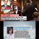 """Inventivitate ruseasca. Basescu, la fel de dictator si comunist ca Voronin. Boc, un agresor al """"presei libere"""". Vintu, un inger al democratiei. Preda, campionul anticomunismului. Cand noul KGB are doua kalasnikovuri: Realitatea si Publika TV"""