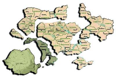 Romania Mare Basarabia Bucovina Ucraina sparta Moldova mica Harta Map