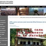 Civic Media: APEL pentru salvarea casei memoriale Mihai Eminescu de la Varatec, adresat PF Patriarh Daniel, IPS Teofan, IPS Pimen, Academiei Romane, Ministerului Culturii