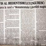 """Adrian Nastase: Un vis al iredentismului unguresc: Reamplasarea la Arad a """"Monumentului Libertatii Maghiare"""". FOTO-DOCUMENT"""