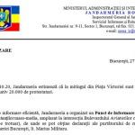 """""""Cel mai mare miting din istoria Romaniei"""": 20.000 de oameni in Piata Victoriei. Informare a Jandarmeriei Romane"""