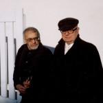 Un ultim omagiu marelui scriitor Jean Parvulesco. Foto-documente: Jean Parvulesco alaturi de Horia Damian si Ezra Pound