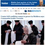 Ziaristi Online: Presa rusa a anuntat formarea coalitiei PCRM – PD. Intelegerea dintre Voronin si pupilul sau Lupu a fost parafata in prezenta lui Narîșkin, seful administratiei de la Kremlin