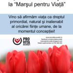"""Vino la """"Marşul pentru Viaţă""""! In Bucuresti, Timisoara, Satu Mare si in alte orase ale Romaniei. """"Spune DA vieţii"""""""