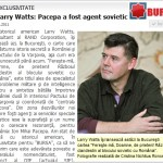 Larry Watts: Pacepa a fost agent sovietic. EXCLUSIVITATE BURSA