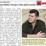 Larry Watts: Pacepa a fost agent sovietic. EXCLUSIVITATE BURSA