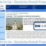 George Damian: Minciunile Deutsche Welle despre Catedrala Mântuirii Neamului. The Deutsche Welle's lies about the Romanian Orthodox Cathedral of National Redemption