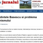 """Marele soc. Tismaneanu catre Basescu: """"De ce este nevoie de o comisie pentru condamnarea comunismului?"""" """"Presedintele Basescu si problema comunismului"""", de profesorul Vladimir Tismaneanu, in Jurnalul profesorului Felix Voiculescu"""