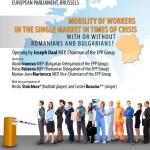 Se intampla la Bruxelles: Cu sau fara romani si bulgari pe piata muncii UE? Au cuvantul: Elena Basescu, Marian Jean Marinescu, Iliana Ivanova si invitatii lor