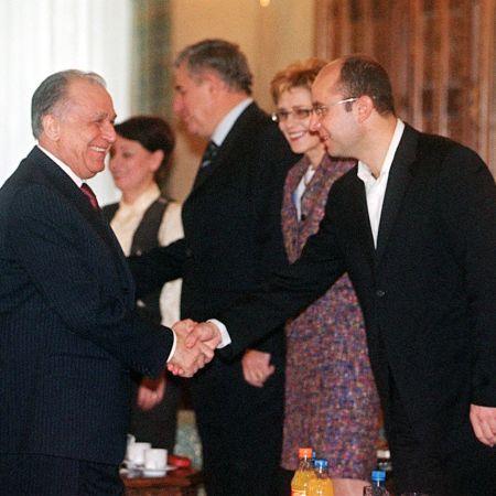 Cozmin Gusa si Ion Iliescu