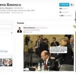 "EBA l-a prezentat pe tatal ei, ""dictatorul Traian Basescu"", pe Twitter, impreuna cu Angela Merkel. FOTO"