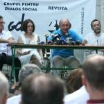 """Suspendantul Basescu, la """"masa verde"""" cu urmasii ucigasilor de romani de la Karaganda, lagarul deportatilor basarabeni in Kazahstan. Gardienii NKVD, de la PCdR la GDS si PDL: Oisteanu, Liiceanu, Patapievici, Plesu, Macovei Gherghescu"""