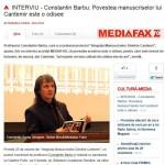 INTERVIU MEDIAFAX cu profesorul Constantin Barbu: Povestea manuscriselor lui Cantemir este o odisee