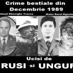 Uciderile ritualice ale rusilor si ungurilor din Decembrie 1989 si complicitatea la crima a presupusilor presedinti ai Romaniei, Iliescu, Constantinescu si Basescu
