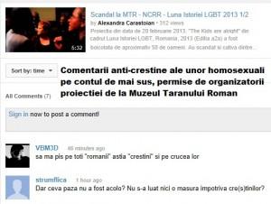 Comentarii anti-crestine ale homosexualilor
