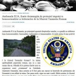 """Scandalul homosexualilor: presa de la Bacau ia apararea protestatarilor de la Bucuresti. Romanii sunt revoltati de """"obraznicia Ambasadei SUA"""". Ziarul de Garda: Ne scuzati ca nu vrem sa devenim indienii unei colonii numita Romania"""