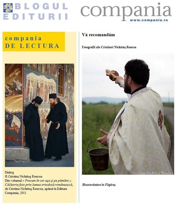 Cristina Nichitus Roncea la Editura Compania - Album Fotografic Precum in Cer
