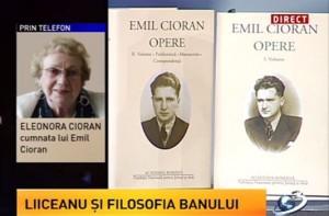 Eleonora Cioran despre Liiceanu si filosofia banului