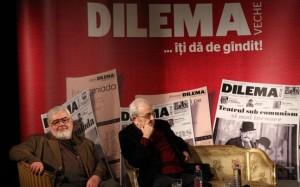 Andrei Plesu si Radu Cosasu alias  Rohlich de la Dilema