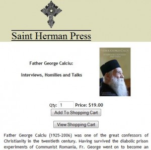 Father Gheorghe Calciu Saint Herman Press