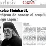După Părintele Justin Pârvu la Baia Sprie, şi Părintele Nicolae Steinhardt devine Cetăţean de Onoare, la Târgu Lăpuş. Felicitari Gazetei de Maramureş!