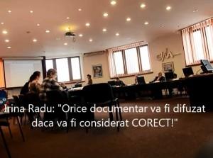 Irina Radu la CNA despre cenzurarea emisiunii Mostenirea Clandestina cu Larry Watts - 27.02.2014