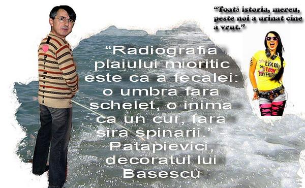 Fufa lui Basescu - Patapievici si pitipoanca Irina Tarasiuk
