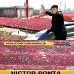 Kim Jong Ponta. De ziua lui, Victor Ponta a adus cu camioanele zeci de mii de aplaudaci pe stadionul Arena Naţional şi a blocat circulaţia Bucureştiului