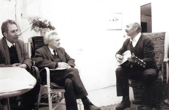 Marin Sorescu, Emil Cioran, Tudor Gheorghe - Foto Alexandre Vajaianu -Paris, Ian 1990