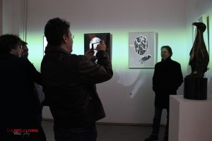 Victor Roncea, Ion Spanu si Florin Chilian la Rone - Expozitia Borders de la The Art of Living Gallery