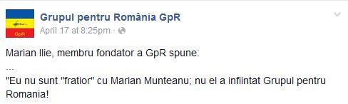 Grupul pentru Romania - Marian Munteanu