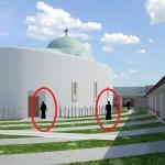 Dan Puric vrea sa faca o manastire mixta la Aiud, cu maici si calugari, care sa se roage intr-o Biserica coborata de pe luna pe post de naveta spatiala. FOTO PROIECT RAPA ROBILOR
